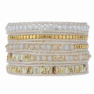 Victoria Emerson Boho Crystal bead Bracelet NEW!